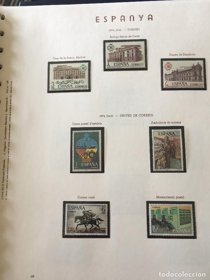 Sellos: Excepcional coleccion sellos España años 1960 a 1990 en Hojas Olegario y 4 Albums Philos - Foto 198 - 219321357