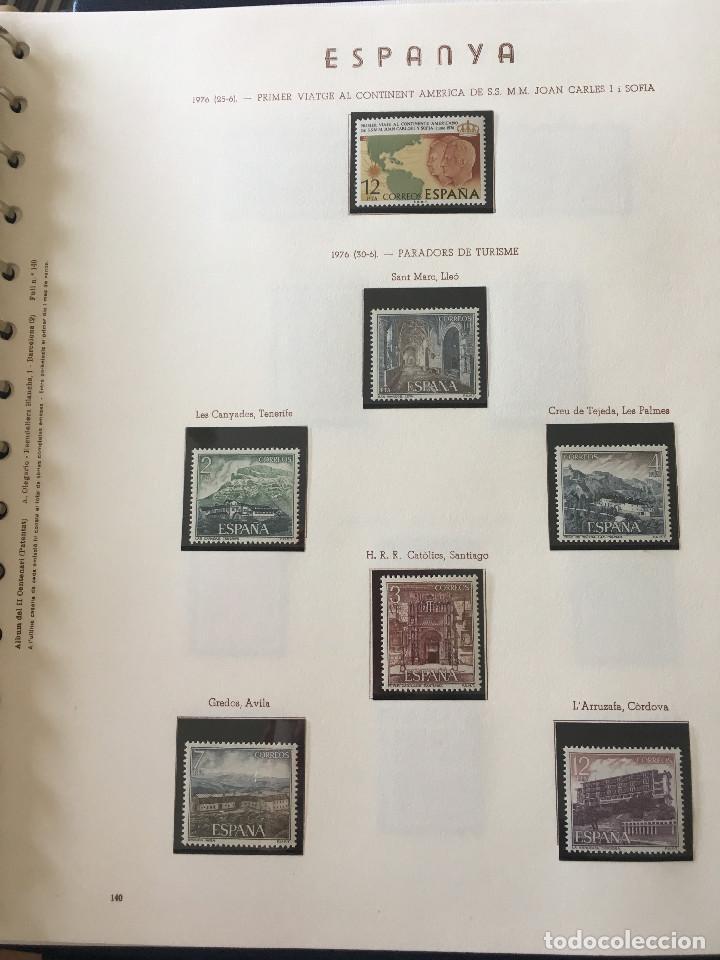 Sellos: Excepcional coleccion sellos España años 1960 a 1990 en Hojas Olegario y 4 Albums Philos - Foto 199 - 219321357