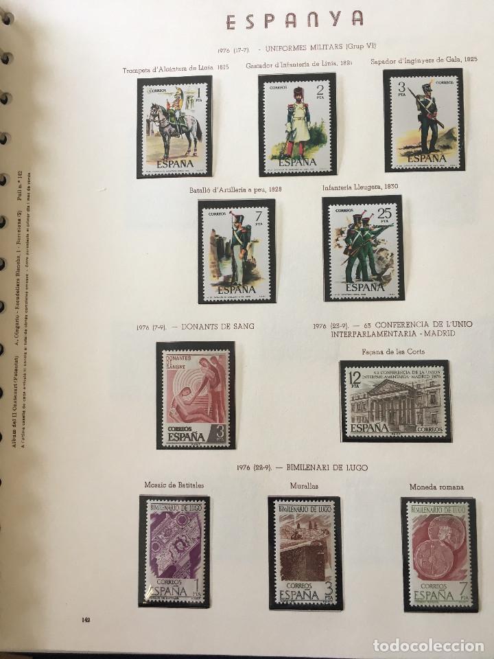 Sellos: Excepcional coleccion sellos España años 1960 a 1990 en Hojas Olegario y 4 Albums Philos - Foto 201 - 219321357