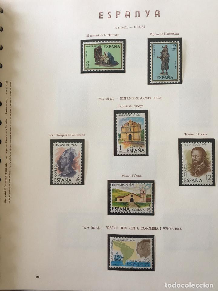 Sellos: Excepcional coleccion sellos España años 1960 a 1990 en Hojas Olegario y 4 Albums Philos - Foto 203 - 219321357