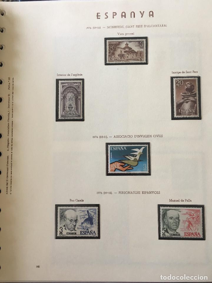 Sellos: Excepcional coleccion sellos España años 1960 a 1990 en Hojas Olegario y 4 Albums Philos - Foto 204 - 219321357