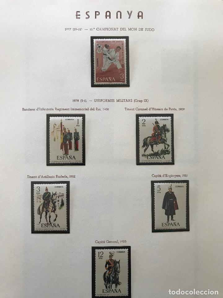 Sellos: Excepcional coleccion sellos España años 1960 a 1990 en Hojas Olegario y 4 Albums Philos - Foto 206 - 219321357