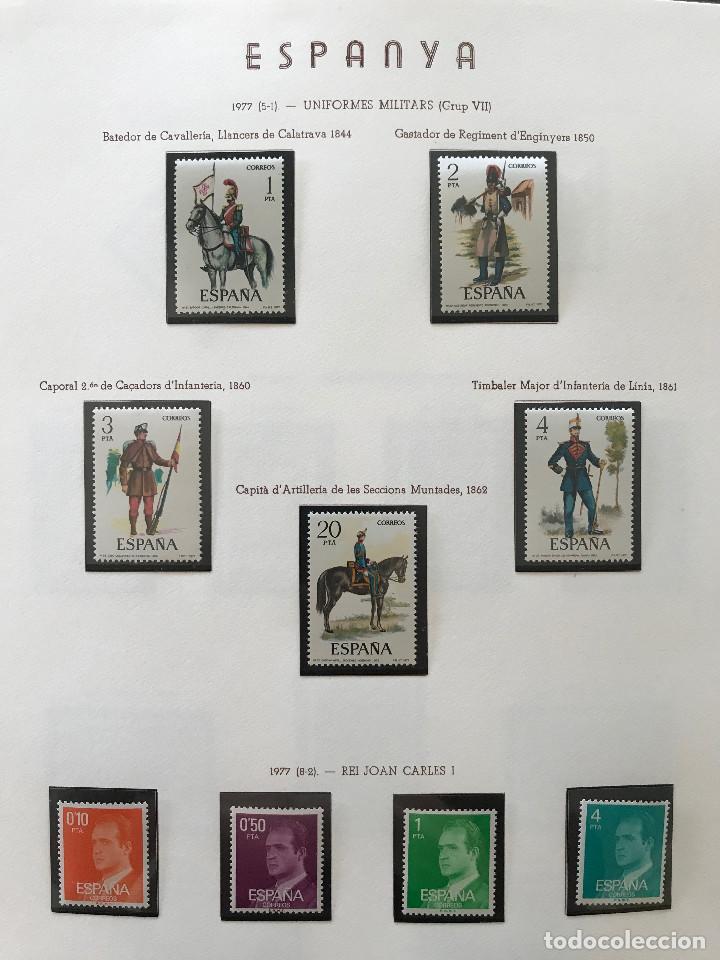 Sellos: Excepcional coleccion sellos España años 1960 a 1990 en Hojas Olegario y 4 Albums Philos - Foto 208 - 219321357
