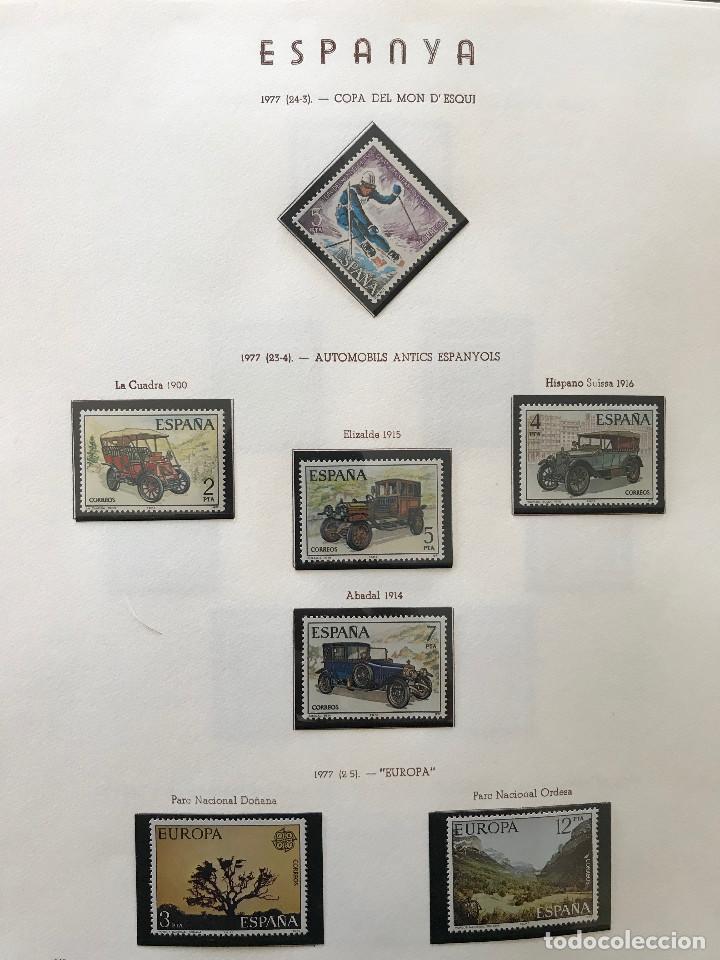 Sellos: Excepcional coleccion sellos España años 1960 a 1990 en Hojas Olegario y 4 Albums Philos - Foto 210 - 219321357