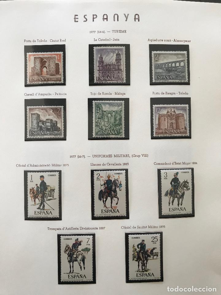 Sellos: Excepcional coleccion sellos España años 1960 a 1990 en Hojas Olegario y 4 Albums Philos - Foto 212 - 219321357