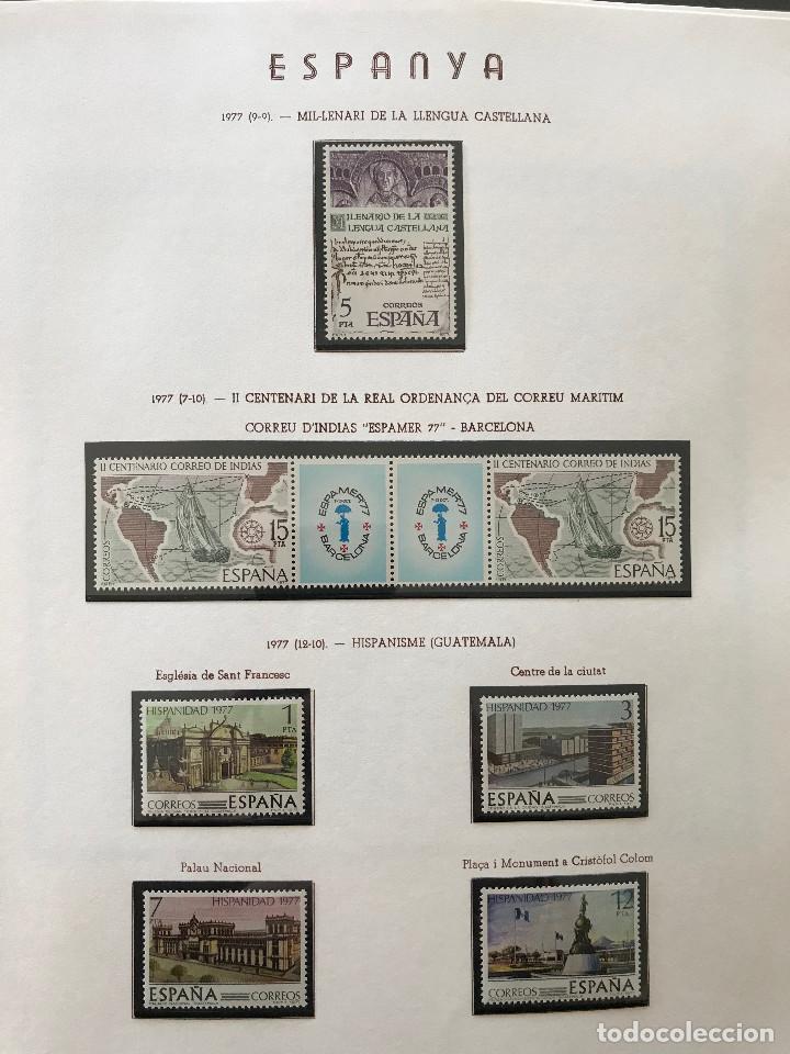 Sellos: Excepcional coleccion sellos España años 1960 a 1990 en Hojas Olegario y 4 Albums Philos - Foto 214 - 219321357