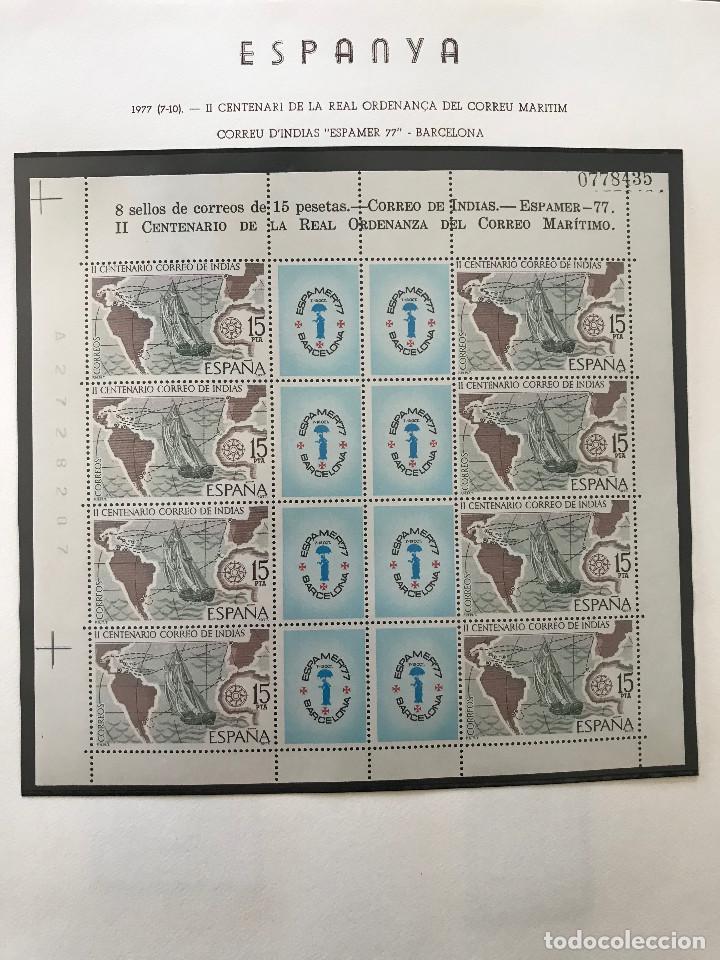 Sellos: Excepcional coleccion sellos España años 1960 a 1990 en Hojas Olegario y 4 Albums Philos - Foto 215 - 219321357