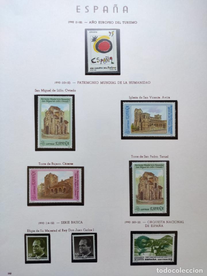 Sellos: Excepcional coleccion sellos España años 1960 a 1990 en Hojas Olegario y 4 Albums Philos - Foto 216 - 219321357