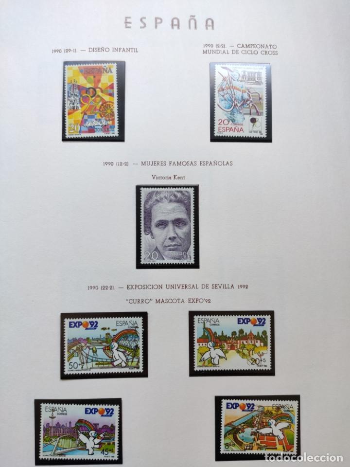 Sellos: Excepcional coleccion sellos España años 1960 a 1990 en Hojas Olegario y 4 Albums Philos - Foto 217 - 219321357