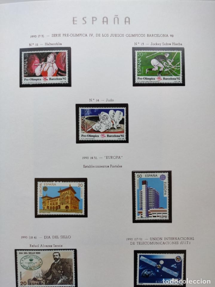 Sellos: Excepcional coleccion sellos España años 1960 a 1990 en Hojas Olegario y 4 Albums Philos - Foto 218 - 219321357