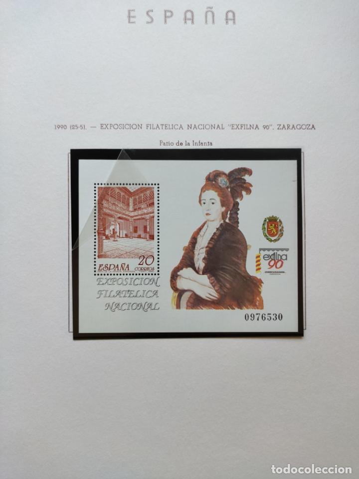 Sellos: Excepcional coleccion sellos España años 1960 a 1990 en Hojas Olegario y 4 Albums Philos - Foto 220 - 219321357