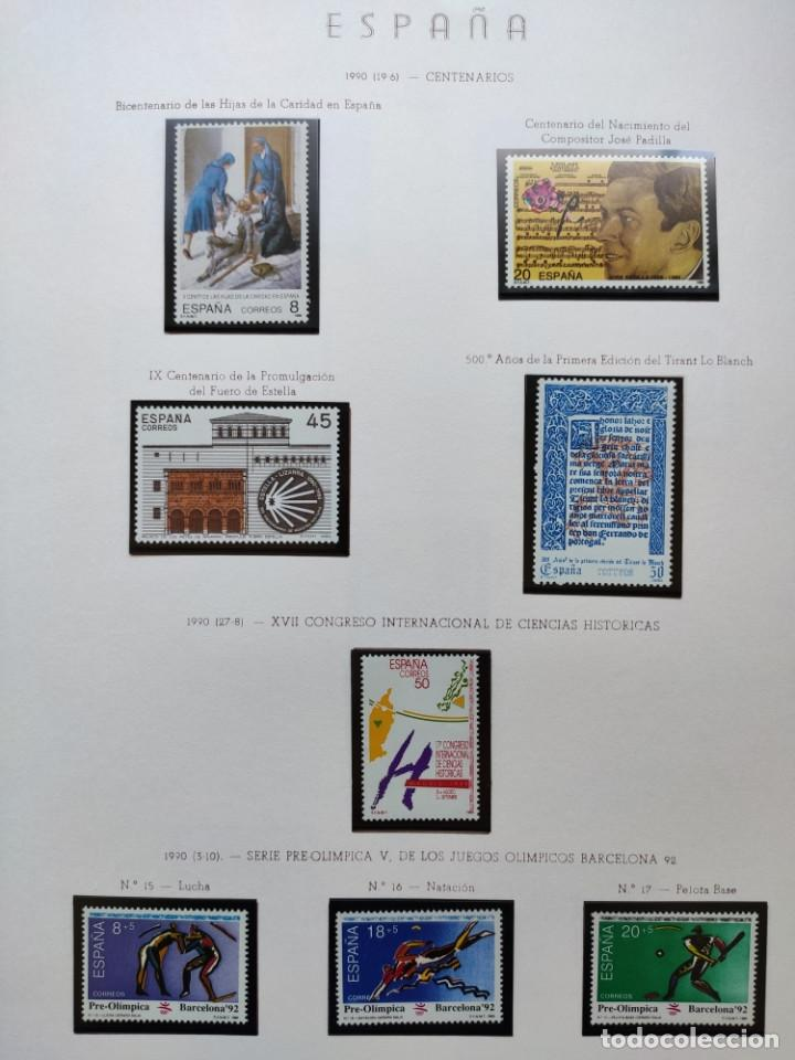 Sellos: Excepcional coleccion sellos España años 1960 a 1990 en Hojas Olegario y 4 Albums Philos - Foto 222 - 219321357