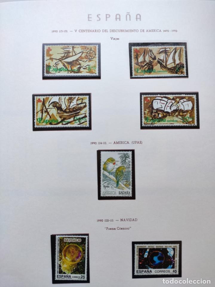 Sellos: Excepcional coleccion sellos España años 1960 a 1990 en Hojas Olegario y 4 Albums Philos - Foto 223 - 219321357