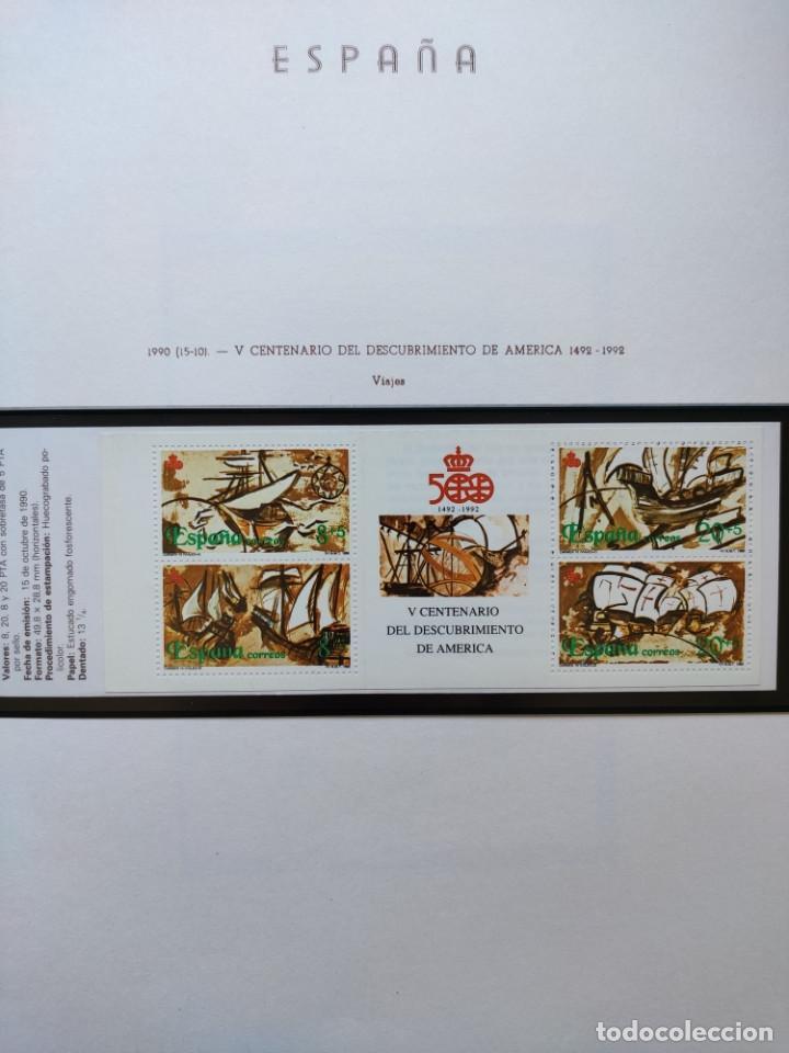 Sellos: Excepcional coleccion sellos España años 1960 a 1990 en Hojas Olegario y 4 Albums Philos - Foto 224 - 219321357