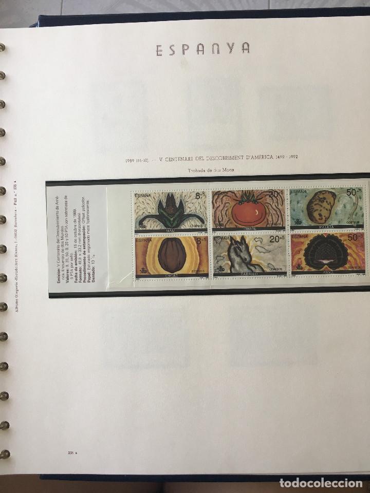 Sellos: Excepcional coleccion sellos España años 1960 a 1990 en Hojas Olegario y 4 Albums Philos - Foto 226 - 219321357