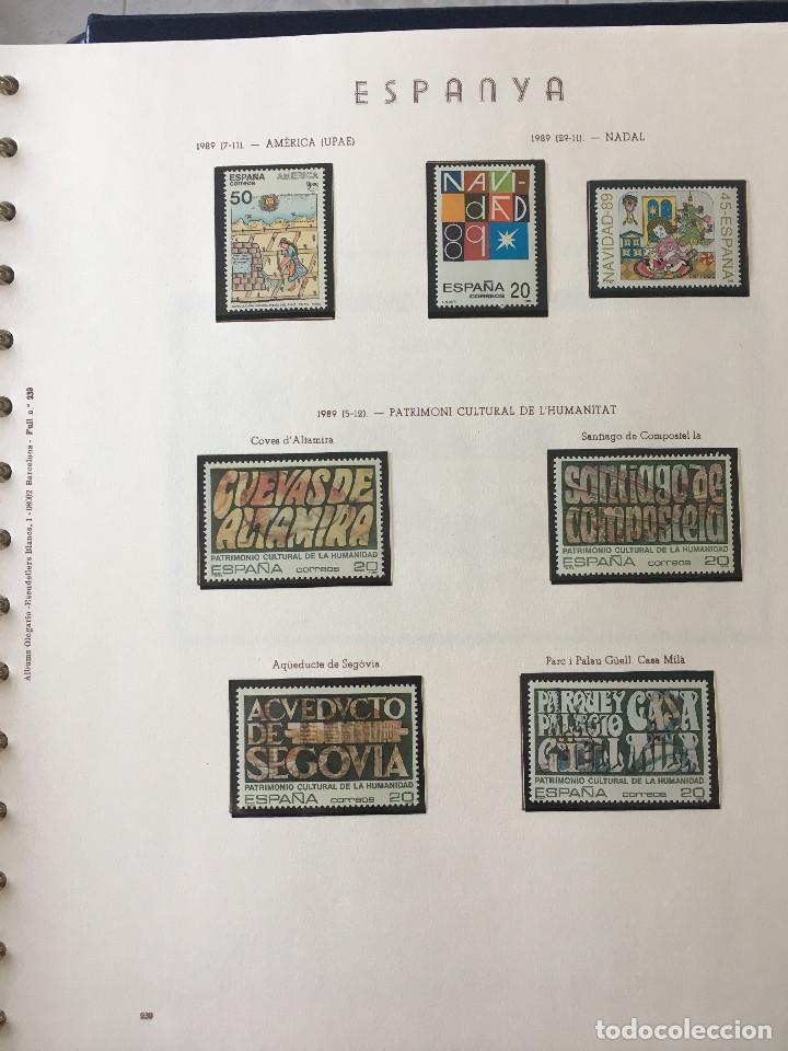 Sellos: Excepcional coleccion sellos España años 1960 a 1990 en Hojas Olegario y 4 Albums Philos - Foto 227 - 219321357