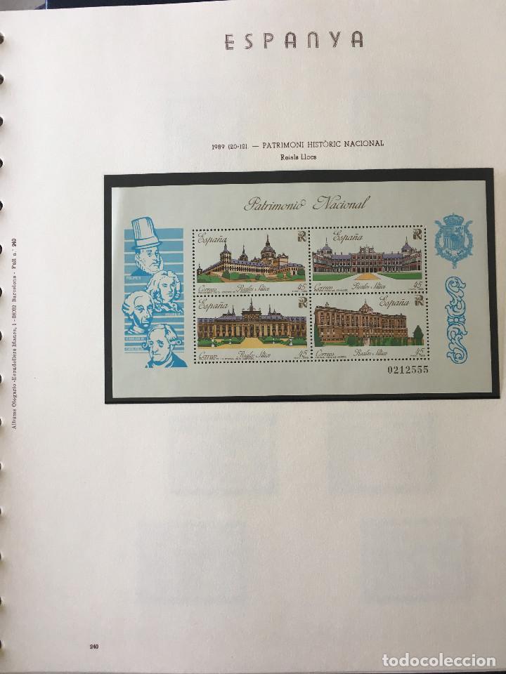 Sellos: Excepcional coleccion sellos España años 1960 a 1990 en Hojas Olegario y 4 Albums Philos - Foto 228 - 219321357