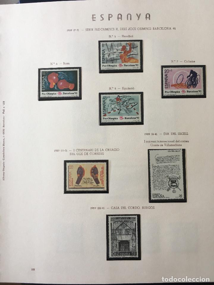 Sellos: Excepcional coleccion sellos España años 1960 a 1990 en Hojas Olegario y 4 Albums Philos - Foto 229 - 219321357