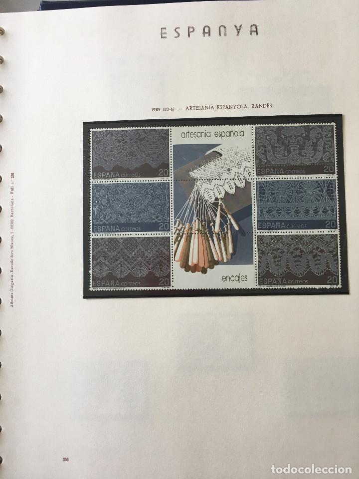 Sellos: Excepcional coleccion sellos España años 1960 a 1990 en Hojas Olegario y 4 Albums Philos - Foto 230 - 219321357