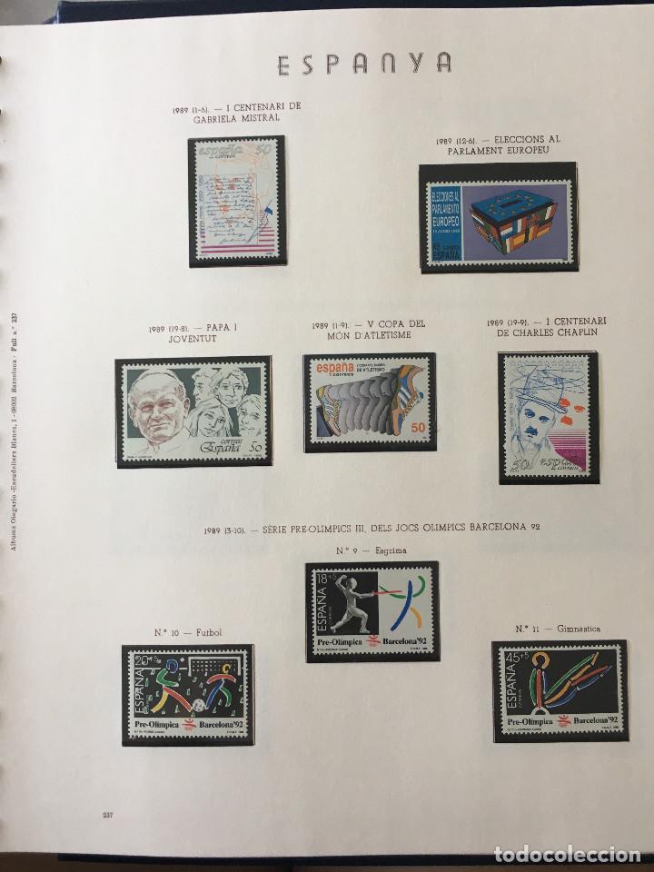 Sellos: Excepcional coleccion sellos España años 1960 a 1990 en Hojas Olegario y 4 Albums Philos - Foto 231 - 219321357