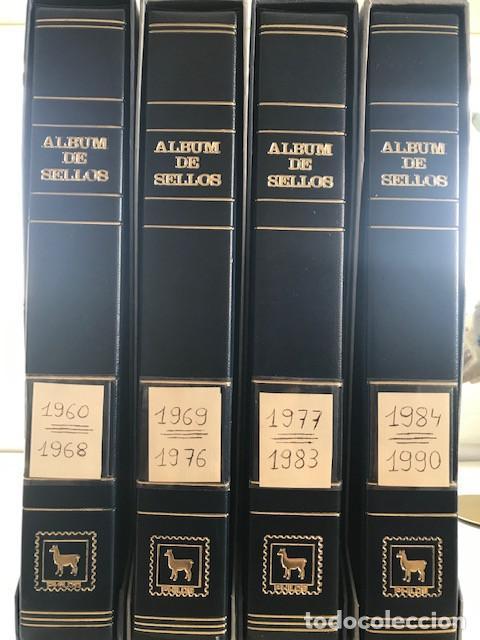 EXCEPCIONAL COLECCION SELLOS ESPAÑA AÑOS 1960 A 1990 EN HOJAS OLEGARIO Y 4 ALBUMS PHILOS (Sellos - Colecciones y Lotes de Conjunto)