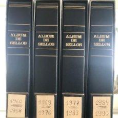 Sellos: EXCEPCIONAL COLECCION SELLOS ESPAÑA AÑOS 1960 A 1990 EN HOJAS OLEGARIO Y 4 ALBUMS PHILOS. Lote 219321357