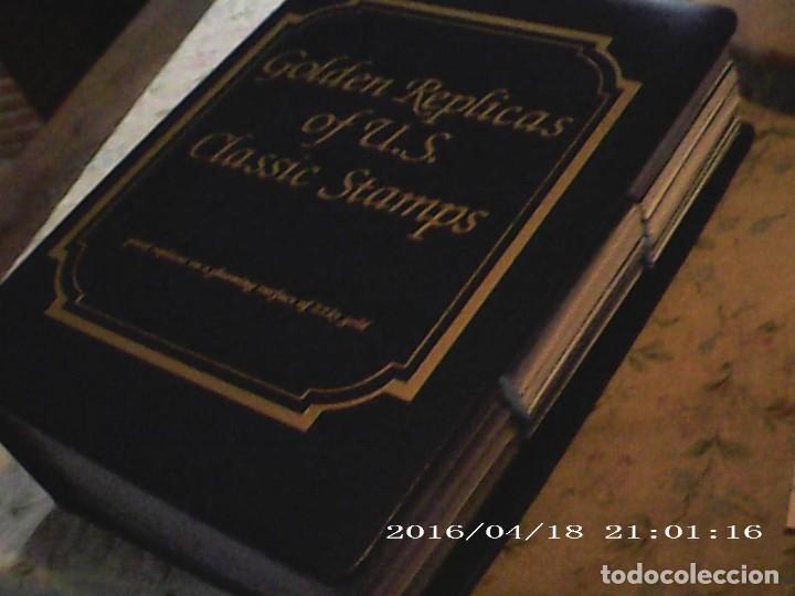 Sellos: ÚNICA EN T.COLECCIÓN 100 SELLOS DE ORO 22 KILATES COLECCIÓN COMPLETA DE 1847 A 1932 USA - Foto 3 - 221504917