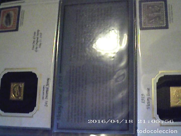 Sellos: ÚNICA EN T.COLECCIÓN 100 SELLOS DE ORO 22 KILATES COLECCIÓN COMPLETA DE 1847 A 1932 USA - Foto 7 - 221504917