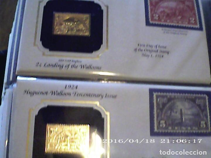 Sellos: ÚNICA EN T.COLECCIÓN 100 SELLOS DE ORO 22 KILATES COLECCIÓN COMPLETA DE 1847 A 1932 USA - Foto 10 - 221504917