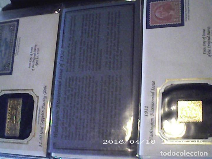 Sellos: ÚNICA EN T.COLECCIÓN 100 SELLOS DE ORO 22 KILATES COLECCIÓN COMPLETA DE 1847 A 1932 USA - Foto 14 - 221504917