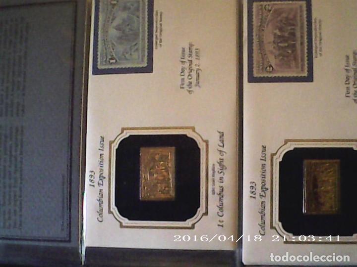 Sellos: ÚNICA EN T.COLECCIÓN 100 SELLOS DE ORO 22 KILATES COLECCIÓN COMPLETA DE 1847 A 1932 USA - Foto 29 - 221504917