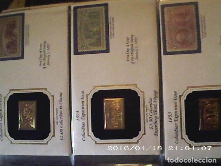 Sellos: ÚNICA EN T.COLECCIÓN 100 SELLOS DE ORO 22 KILATES COLECCIÓN COMPLETA DE 1847 A 1932 USA - Foto 33 - 221504917