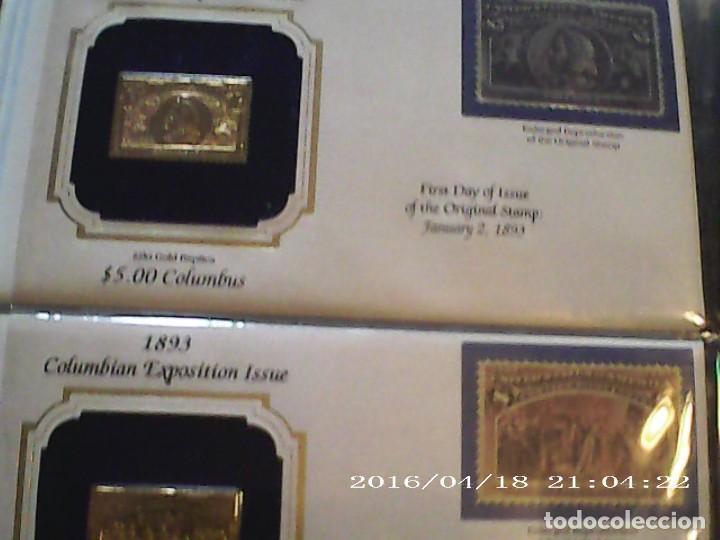 Sellos: ÚNICA EN T.COLECCIÓN 100 SELLOS DE ORO 22 KILATES COLECCIÓN COMPLETA DE 1847 A 1932 USA - Foto 34 - 221504917