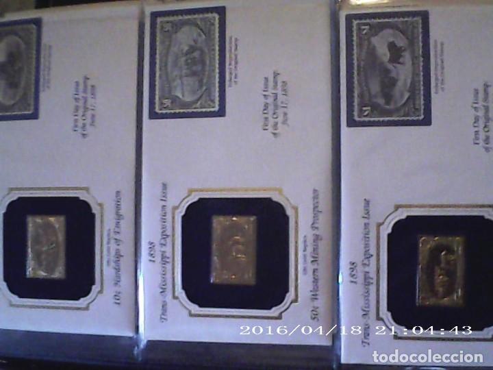 Sellos: ÚNICA EN T.COLECCIÓN 100 SELLOS DE ORO 22 KILATES COLECCIÓN COMPLETA DE 1847 A 1932 USA - Foto 37 - 221504917