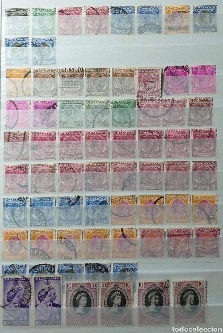 COLECCIÓN DE SELLOS DE SINGAPUR (Sellos - Colecciones y Lotes de Conjunto)