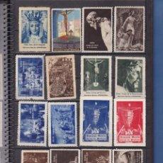 Selos: ST(1484)- GRAN LOTE VIÑETAS GUERRA CIVIL, SEMANA SANTA ETC, ETC MUY INTERESANTES . VER 12 IMÁGENES. Lote 221667182