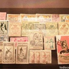 Sellos: FICHA CON 25 SELLOS, GIROS, VIÑETAS,.... Lote 222176837