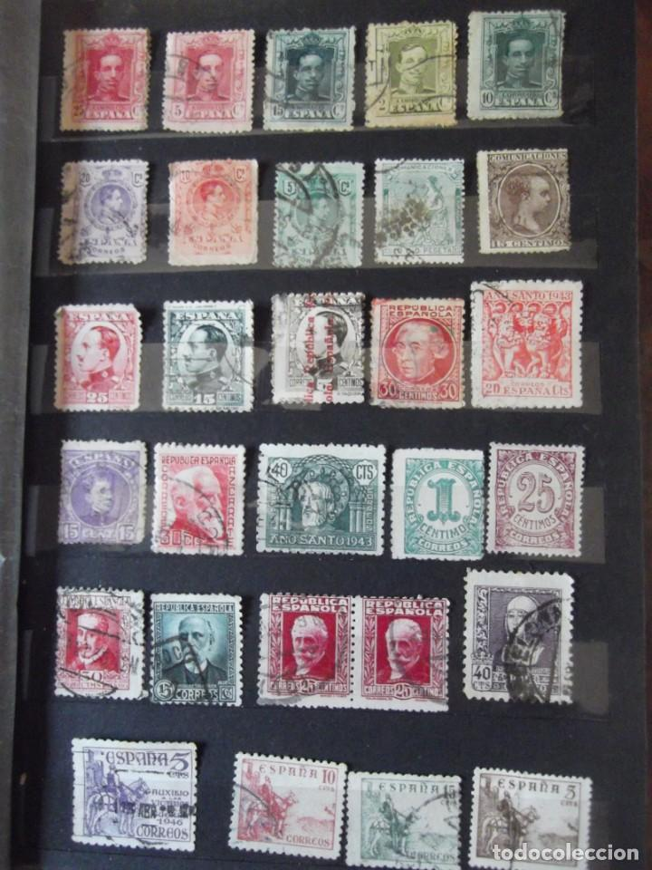 Sellos: Buen lote de Sellos 1º y 2º centenario, albúm con sellos , 2 pliegos , bolsa con mas de 800 sellos - Foto 5 - 222791843