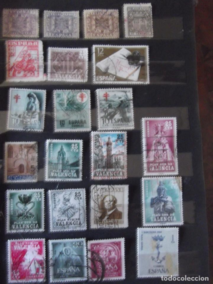 Sellos: Buen lote de Sellos 1º y 2º centenario, albúm con sellos , 2 pliegos , bolsa con mas de 800 sellos - Foto 7 - 222791843