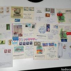 Sellos: LOTE SELLOS 14 CARTAS CORRESPONDENCIA ESTONIA, LETONIA, LITUANIA, RUSIA. Lote 222888840