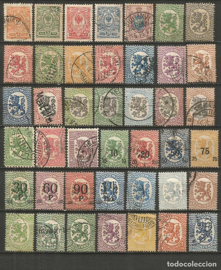 FINLANDIA CONJUNTO DE SELLOS USADOS ANTIGUOS (Sellos - Colecciones y Lotes de Conjunto)