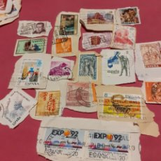 Sellos: LOTE DE 100 SELLOS DE ESPAÑA RECORTADOS DE CARTAS ANTIGUAS. Lote 224251242
