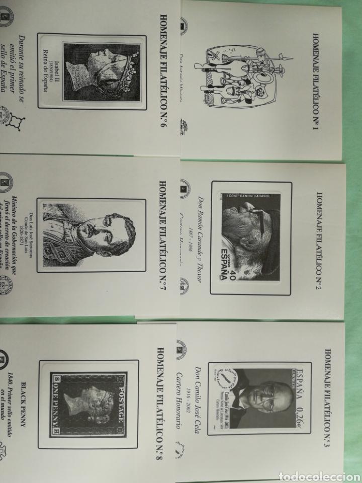 Sellos: Lote de 14 Homenajes Filatélicos Nuevos - Foto 2 - 261151250