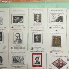 Selos: LOTE DE 14 HOMENAJES FILATÉLICOS NUEVOS. Lote 262500945