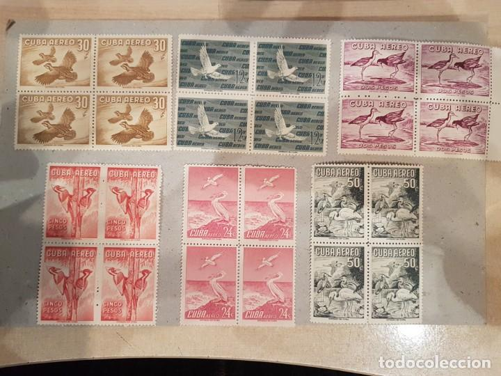 ESPECTACULAR LOTE DE 24 SELLOS AÉREOS DE CUBA NUEVOS (Sellos - Colecciones y Lotes de Conjunto)