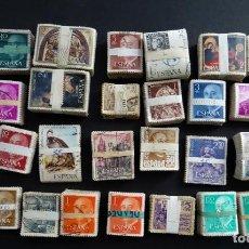 Selos: COLECCIÓN DE MAS DE 3000 SELLOS DE ESPAÑA USADOS EN PASTILLAS, VER FOTOS. Lote 234663815