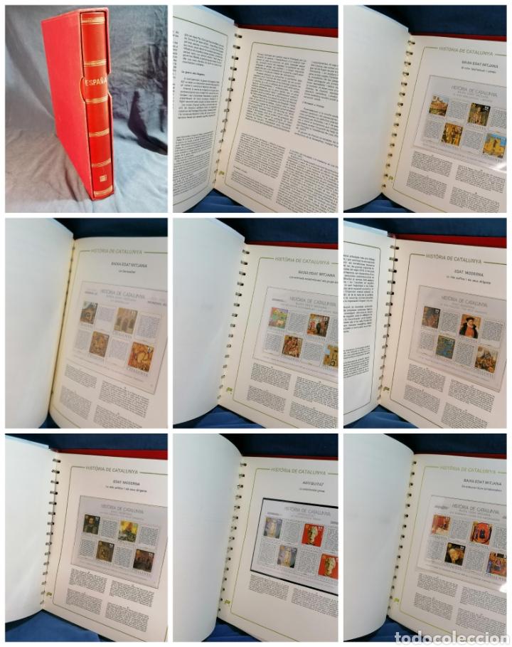 ESPAÑA COLECCION RESTO ALBUM DE LUJO TEMA DE CATALUÑA (Sellos - Colecciones y Lotes de Conjunto)