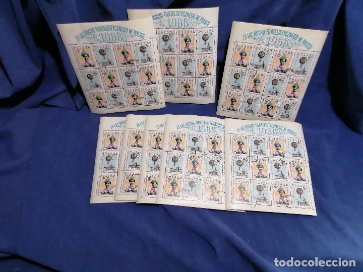 Sellos: Album hojas sellos Resto Coleccion Lote 4200 sellos mundiales en Hojas Pliego Mundial - Foto 3 - 241085420