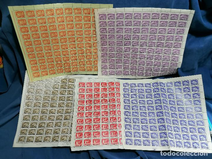 Sellos: Album hojas sellos Resto Coleccion Lote 4200 sellos mundiales en Hojas Pliego Mundial - Foto 9 - 241085420