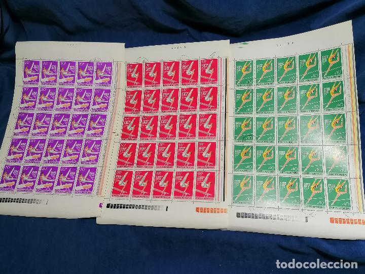 Sellos: Album hojas sellos Resto Coleccion Lote 4200 sellos mundiales en Hojas Pliego Mundial - Foto 20 - 241085420